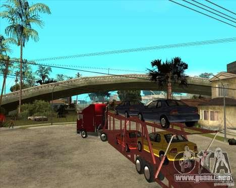 Carro del semi-remolque para visión interna GTA San Andreas