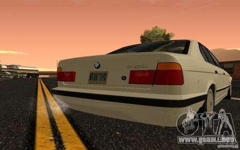 BMW 525 (E34) V.2 para la visión correcta GTA San Andreas