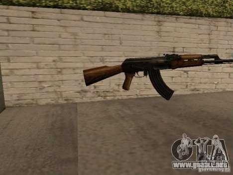 AK 47 para GTA San Andreas segunda pantalla