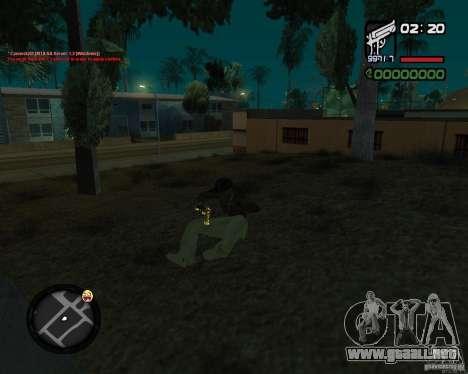 Desert Eagle GOLD para GTA San Andreas sucesivamente de pantalla