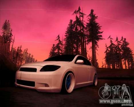 Scion tC Blue Meisters para GTA San Andreas left