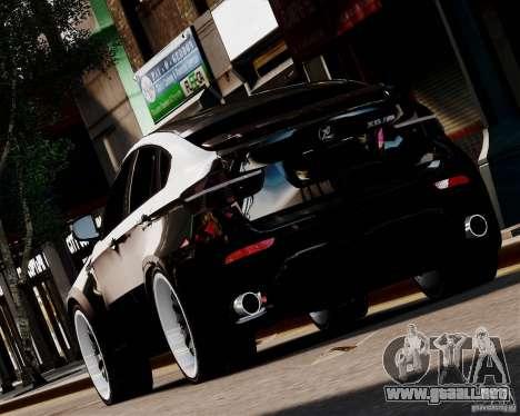 BMW X6 Tuning v1.0 para GTA 4 Vista posterior izquierda