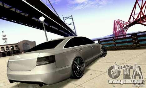 Audi A6 Blackstar para vista inferior GTA San Andreas