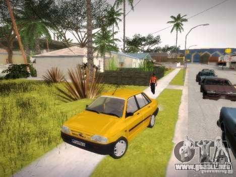 Kia Pride 131 para GTA San Andreas vista posterior izquierda