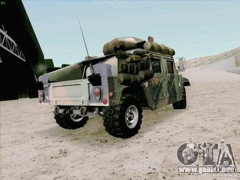 Hummer H1 para GTA San Andreas vista posterior izquierda