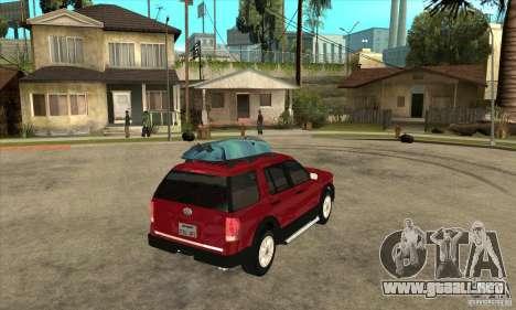 Ford Explorer 2004 para la visión correcta GTA San Andreas