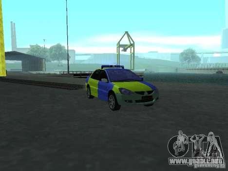 Policía de Mitsubishi Lancer para GTA San Andreas