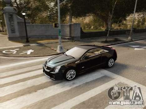 Cadillac CTS-V Coupe 2011 para GTA 4 vista hacia atrás