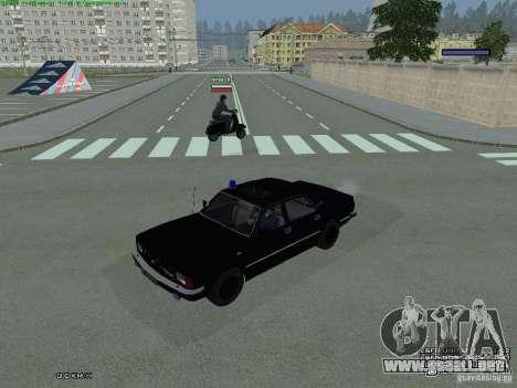 Volga FEDERAL para GTA San Andreas vista posterior izquierda