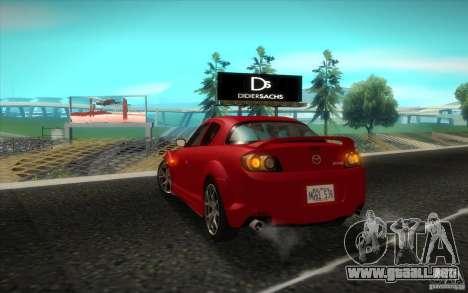 Mazda RX-8 R3 2011 para la visión correcta GTA San Andreas