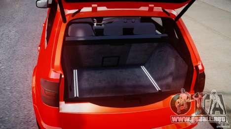 BMW X5M Chrome para GTA 4 vista hacia atrás