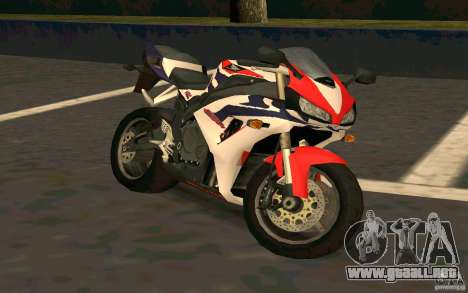 Honda Fireblade 1000RR para GTA San Andreas vista hacia atrás