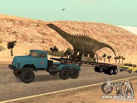 Dinosaurio Trailer para GTA San Andreas vista hacia atrás