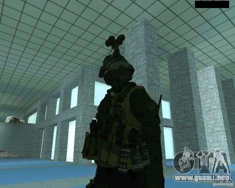 El tercer soldado de la piel Cod MW 2 para GTA San Andreas