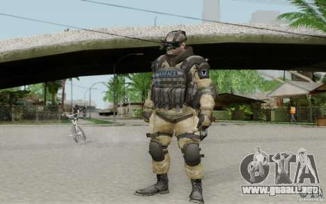 Un ingeniero de Warface para GTA San Andreas