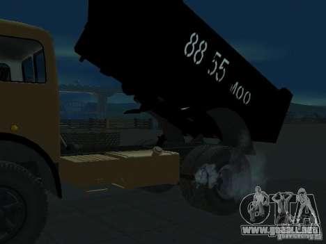 Camión MAZ 503a para GTA San Andreas vista posterior izquierda