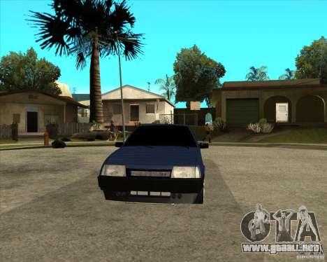 VAZ 21099 luz sintonía por Diman para GTA San Andreas vista hacia atrás
