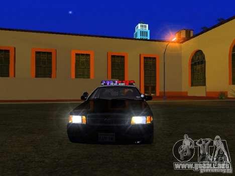 Ford Crown Victoria San Andreas State Patrol para vista lateral GTA San Andreas