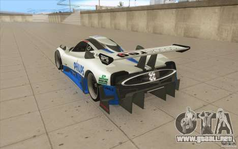 Pagani Zonda Racing Edit para GTA San Andreas vista posterior izquierda