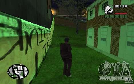 La misión de la madre de CJ para GTA San Andreas sucesivamente de pantalla
