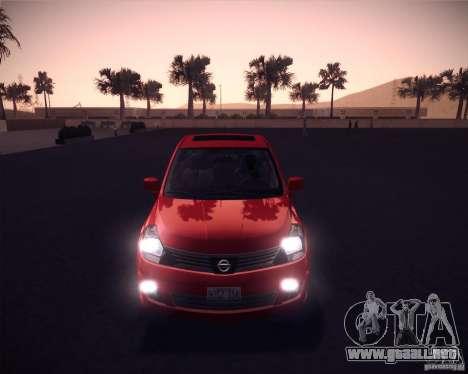 Nissan Versa Stock para GTA San Andreas left