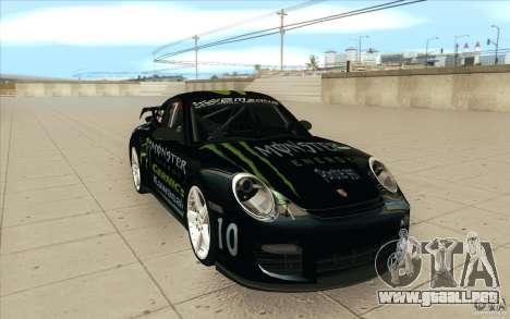 Porsche 997 Rally Edition para GTA San Andreas vista hacia atrás