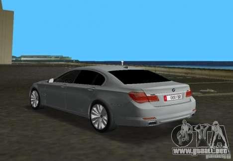 BMW 750 Li para GTA Vice City vista lateral izquierdo