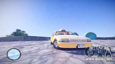 Chevrolet Caprice Taxi para GTA 4 visión correcta