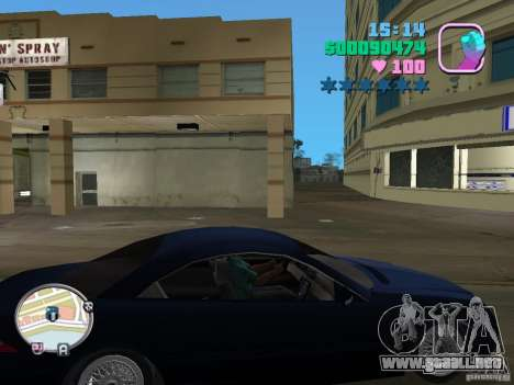 Mercedes-Benz E350 para GTA Vice City left