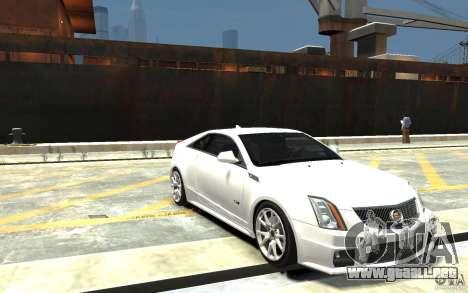 Cadillac CTS-V Coupe 2011 v.2.0 para GTA 4 vista hacia atrás