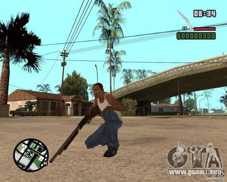 Chromegun HD para GTA San Andreas segunda pantalla