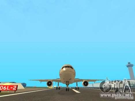 McDonell Douglas  DC 10 Thai Airways para GTA San Andreas vista hacia atrás