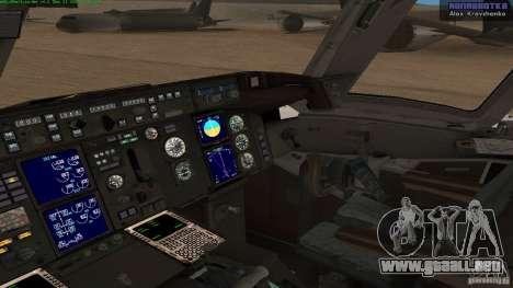 Boeing 757-200 Final Version para la visión correcta GTA San Andreas