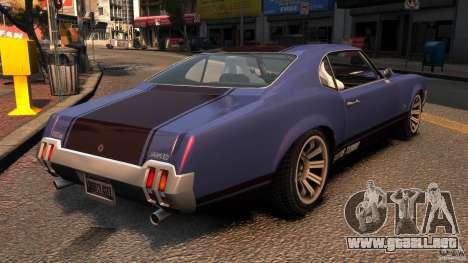 New Sabre GT para GTA 4 Vista posterior izquierda