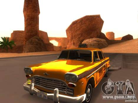 Checker Marathon Yellow CAB para GTA San Andreas