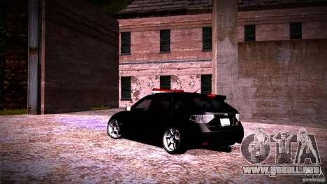 Subaru Impreza WRX STI para la visión correcta GTA San Andreas