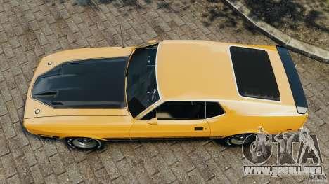 Ford Mustang Mach 1 1973 para GTA 4 visión correcta