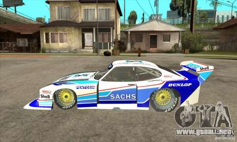 Ford Zakspeed Capri Mk3 (1978-1983) para GTA San Andreas left