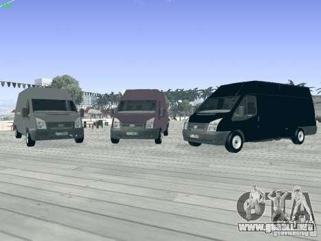 Ford Transit Jumbo 350L 2009 para visión interna GTA San Andreas