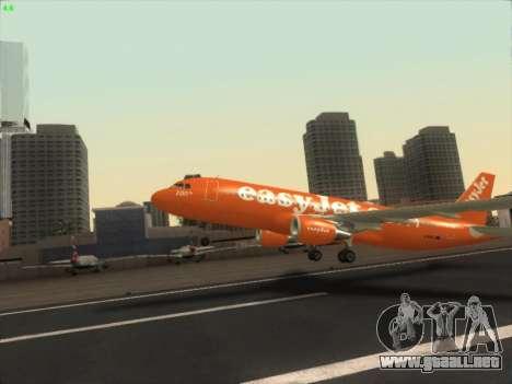 Airbus A320-214 EasyJet 200th Plane para visión interna GTA San Andreas