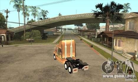Peterbilt 387 piel 3 para la visión correcta GTA San Andreas