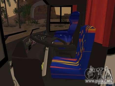 Marcopolo Paradiso 1800 G6 8x2 SCANIA para visión interna GTA San Andreas