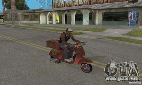 Vespa N-50 Pizzaboy para GTA San Andreas vista hacia atrás