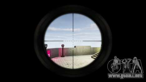 Barrett 98B (francotirador) para GTA 4 adelante de pantalla