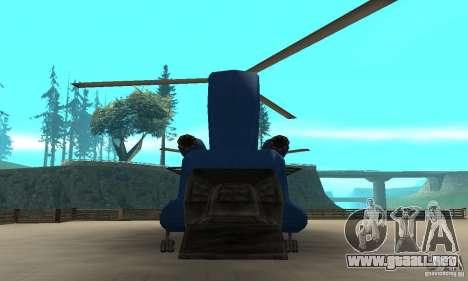 CH-47 Chinook ver 1.2 para la visión correcta GTA San Andreas