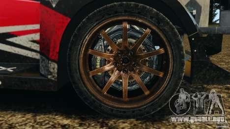 Colin McRae R4 Rallycross para GTA 4 vista hacia atrás