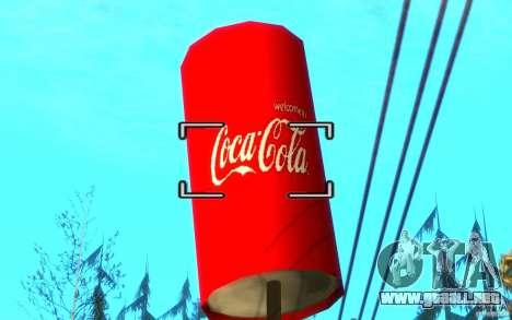 Fábrica de Coca Cola para GTA San Andreas sucesivamente de pantalla
