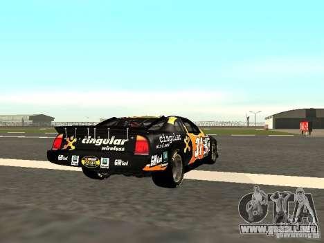 Chevrolet Monte Carlo Nascar CINGULAR Nr.31 para la visión correcta GTA San Andreas