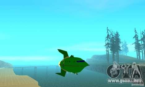 Planet Express para GTA San Andreas vista hacia atrás