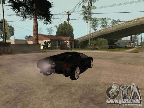 GTA4 Infernus para GTA San Andreas vista posterior izquierda